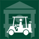 golf cart dark green