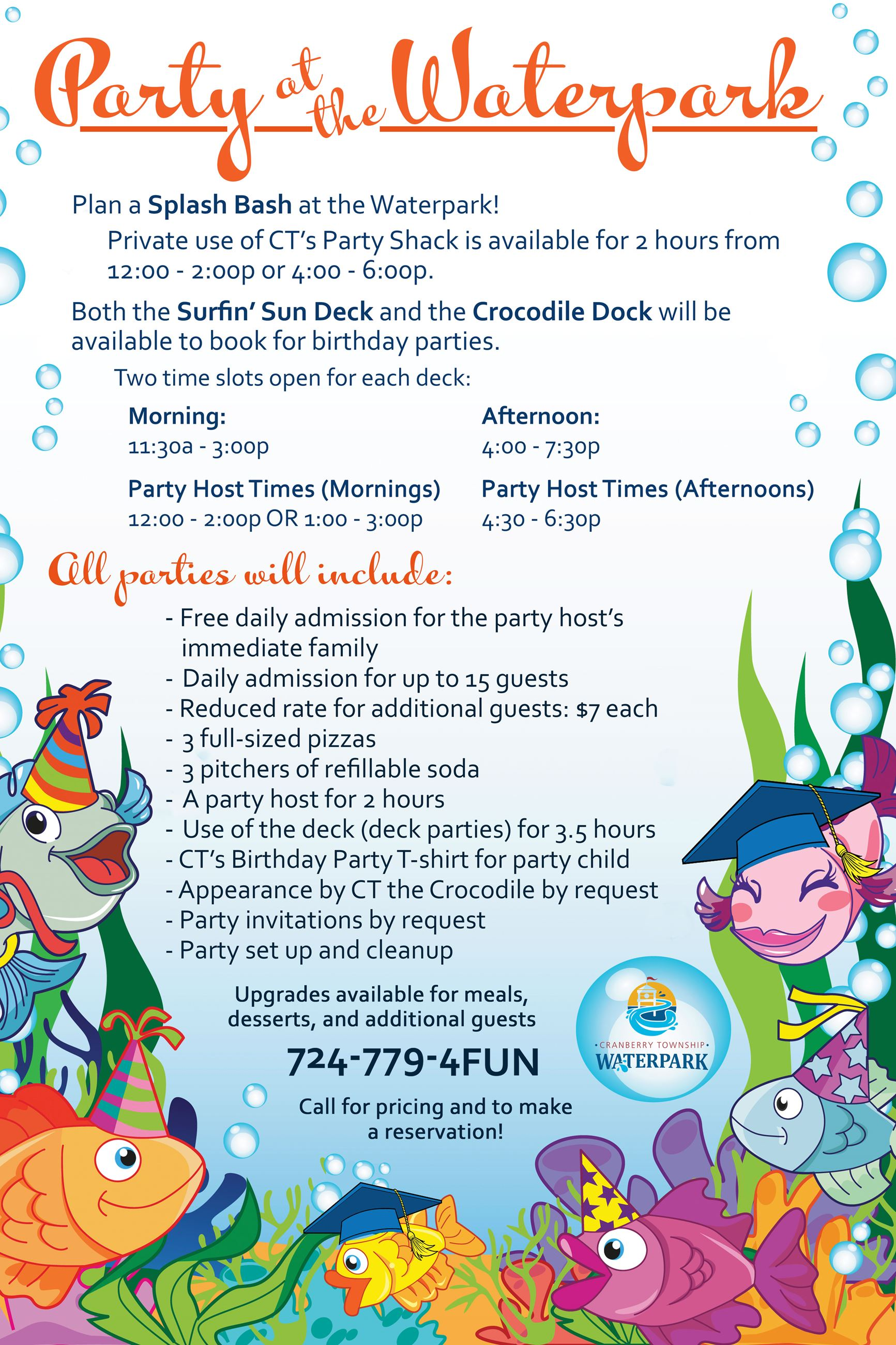 waterpark party packages